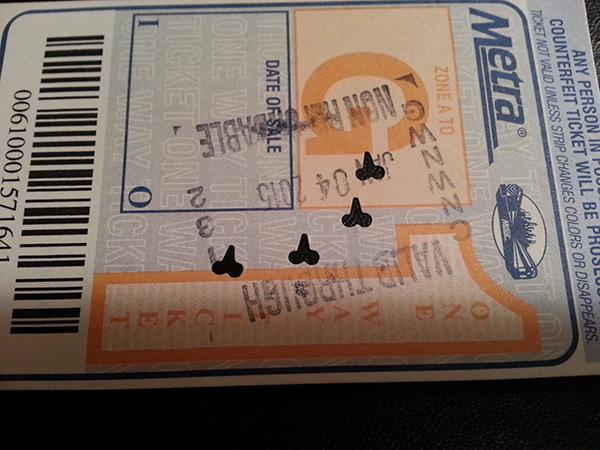 Metra Ticket